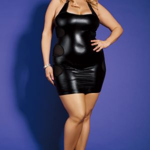 Sexy Kleidchen XXL Plus Size Club Wear Schwarz