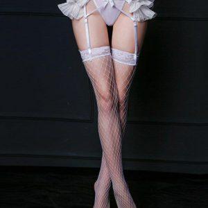 Strapsgürtel mit weiße Netz Strümpfen Braut