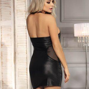 MiniKleid im Wetlook Clubwear Neckholder Rückenfreie