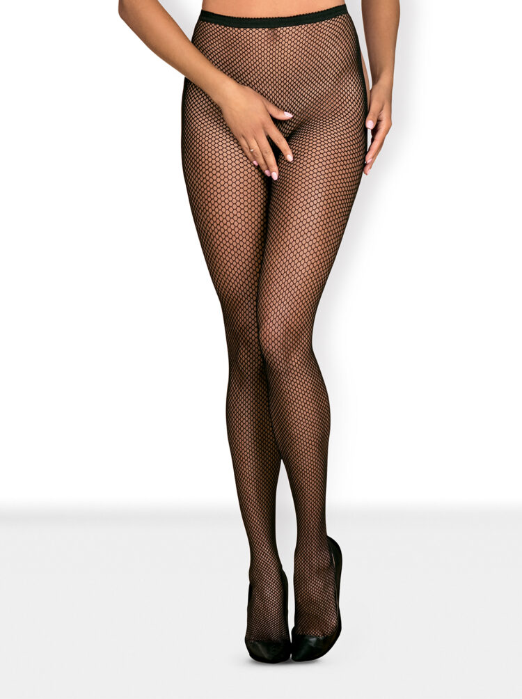 Obsessive fishnet tights black with an exciting pattern