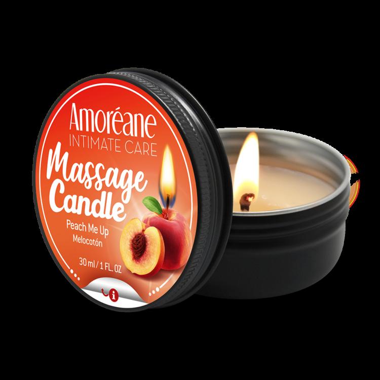 AMOREANE Massagekerze Pfirsich